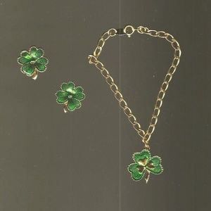 Shamrock Earring and Bracelet Set